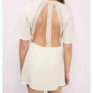 Tobi Dresses - Tobi Lace Open Back Deep V Neck Mini Dress [NEW]